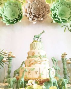 Green Jungle Baby Shower   CatchMyParty.com