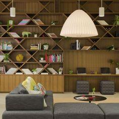 Smart shelves and lighting in the modern office