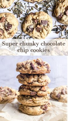 Chunky Chocolate Chip Cookies, Choclate Chip Cookies, Chocolate Cookie Recipes, Chocolate Mix, White Chocolate, Chunky Cookie Recipe, Crunchy Cookies Recipe, How Sweet Eats, Perfect Cookie