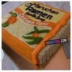 Ramen Noodle Chicken Flavor Birthday Cake!