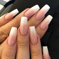 french nails spring Beauty in 2020 White Acrylic Nails, Summer Acrylic Nails, Best Acrylic Nails, Acrylic Gel, French Manicure Acrylic Nails, Summer Nail Polish, Square Acrylic Nails, Metallic Nails, Pink Nail