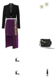 """Grace"" by zoechengrace on Polyvore featuring Anna Sui, Versace, Christian Louboutin, Alexander McQueen, Anne Sisteron and Bobbi Brown Cosmetics"