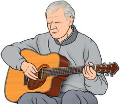 [ American musician ] guitar : Doc Watson. (1923 – 2012).  Doc Watson  was an American guitarist, songwriter, and singer of bluegrass, folk, country, blues, and gospel music.