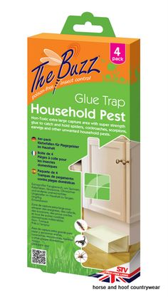 STV International Household Pest Glue Trap Extra large capture area to catch and hold spiders cockroaches scorpions earwigs and household pests.