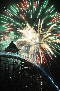 #fireworks with a #rollercoaster