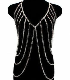 Body Chain Armor Draping Metal Chains  Jewellery Maker PARIKAS.COM