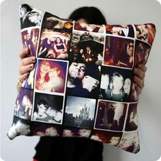 Create your own amazing Instagram pillows! Love this :)...Off to collage kids