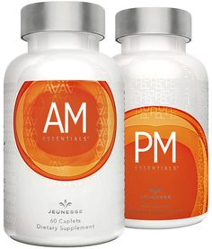 AM & PM ESSENTIALS™ are dietary supplements exclusively designed for your well-being. By targeting your body's morning and nighttime needs, AM & PM ESSENTIALS provides a balanced approach to improving your quality of life from the inside out. *60 caplets per bottle SIZE: 120 Caplets