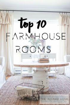 Top 10 Farmhouse Rooms