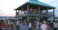 Folly Beach Pier, Moonlight Mixer, shagging under the stars