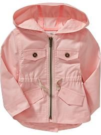 Hooded Utility Jackets for Baby