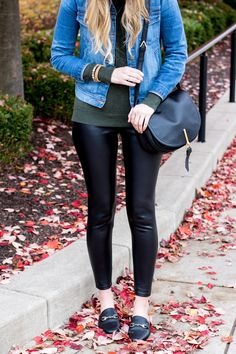 how to wear leather leggings | winter outfit idea with faux leather leggings | leather legging styling tips
