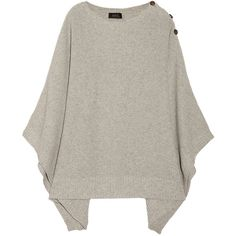 A.P.C. Knitted cotton-blend poncho, so comfy!