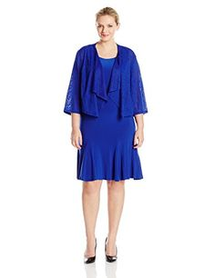 Fashion Bug Womens Plus Size Solid Knit Jacket Dress www.fashionbug.us #plussize 1X 2X 3X 4X 5X 6X