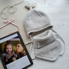 двойная шапка и снуд hat knit purlsoho Baby Booties Knitting Pattern, Baby Boy Knitting Patterns, Knit Headband Pattern, Baby Hats Knitting, Knitted Headband, Knitting For Kids, Knitting Projects, Knitted Hats, Knitted Baby Clothes
