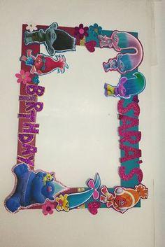 Trolls birthday. Trolls Photo booth Frame. Shopkins by aldimyshop
