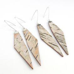 Birch Bark Tine Earrings