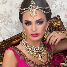 New Indian Bridal Jewelry Sets Brides Jewels Ideas Indian Bridal Makeup, Asian Bridal, Wedding Makeup, Wedding Bride, Bride Makeup, Bride Groom, Indian Bridal Jewelry Sets, Indian Jewelry, Bridal Jewellery