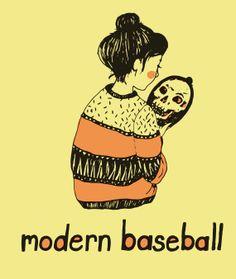 Modern Baseball illustration.