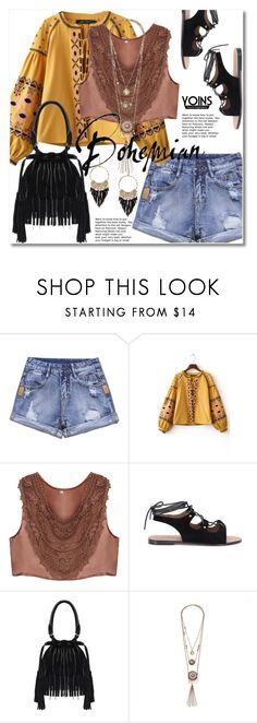 """Bohemian"" by svijetlana ❤ liked on Polyvore featuring rockerchic, rockerstyle, yoins, yoinscollection and loveyoins"