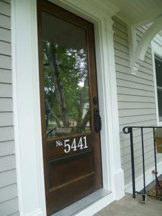 House number & door hardware