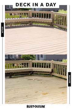 Take your deck from spring showers to summer sun in a few easy steps with RockSolid Deck Coat. Backyard Projects, Outdoor Projects, Backyard Patio, Backyard Landscaping, Home Projects, Outdoor Spaces, Outdoor Living, Outdoor Decor, Deck Makeover