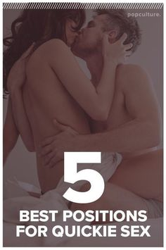 Let's be honest: sometimes, for whatever reason, a quickie with your lover is exactly what you need. Find out the 5 best positions for quickie sex. Popculture.com #quickiesex #sex #sexualhealth #love #sextips #relationships #sexpositions