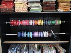 Sew Many Ways...: Ribbon Organizing Again...Tension Rods