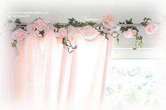 guirlande de fleur lumineuse couleur rose poudre peint en vente http://www.natydecocorse.com