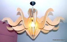 Modèle suspension en carton, Luminaire Carton Atelier Chez Soi - Modèle Lumi3 - Patron à télécharger pour cartonner de suite !