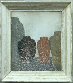 abrade 4 Acrylic painting on wood in vintage frame by Peter Woodward