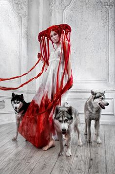 Bloody Riding Hood For Lashmaker Magazine 12 by FlexDreams on DeviantArt Dark Fashion, Fashion Art, Witch Fashion, Couture Fashion, Dark Photography, Fashion Photography, Editorial Photography, Wolf Hybrid, Look Dark