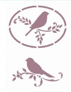 V-138                                                                                                                                                                                 Más Bird Stencil, Sign Stencils, Stencil Templates, Stencil Patterns, Stencil Painting, Stencil Designs, Flower Stencils, Silhouette Curio, Animal Silhouette