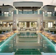 Swimmingpool ideas for the house house design, spanish house, modern mansio Modern Mansion, Spanish House, Spanish Mansion, Spanish Style, House Goals, Modern House Design, My Dream Home, Dream Homes, Exterior Design