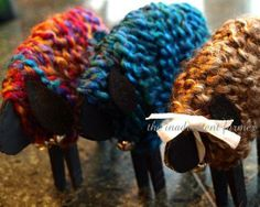 BaaBaa Black, Pink, and Blue Sheep An easy yarn Craft for Imbolc ( Feb 2nd ) http://sweetgrace.typepad.com/the_inadvertent_farmer/2010/01/baa-baa-black-pink-and-blue-sheep-an-easy-yarn-craft.html <- Easy Craft great for kids as well as adults