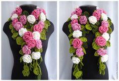 Magnifique, cette écharpe en au crochet. Voir les vidéos pour comprendre comment faire ce foulard. Dans la première vidéo, il est expliqué comment faire les fleurs. Dans la deuxième vidéo voir