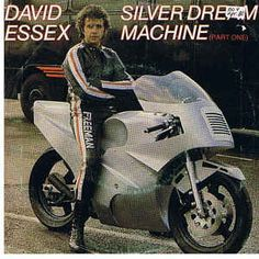 """Original video from Top Of The Pops of the hit single """"Silver Dream Machine"""" by David Essex from the 1980 film Silver Dream Racer. David Essex, Boat Wheel, Dream Machine, My Youth, My Childhood Memories, Album Covers, Nostalgia, Retro, My Love"""