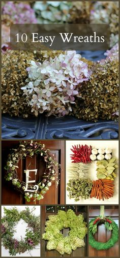 10 Easy to Make Wreaths
