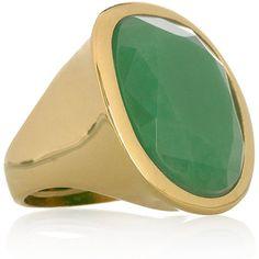 goldplat resin, color green, resins, resin ring, polyvore