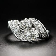 Vintage Twin-Stone Diamond Ring