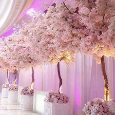 Cherry Blossom Tree Rental for Weddings & Events Los Angeles Pink Wedding Theme, Wedding Themes, Wedding Events, Wedding Ceremony, Wedding Flowers, Dream Wedding, Wedding Day, Pink Wedding Invitations, Cherry Blossom Centerpiece