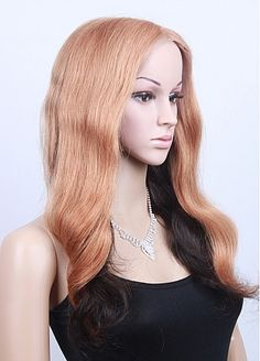 Excellent Long Wavy 16 Inches Hand Tied Full Lace 100% Human Hair Fashion Wig Wedding Dresses Plus Size, Bridal Wedding Dresses, Prom Dresses, Wig Styles, Long Hair Styles, Brazilian Hair Wigs, 100 Human Hair, Wig Hairstyles, Lace