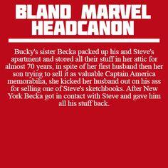 Becka Barnes headcanon -- I love her
