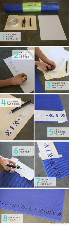 Personalize Your Yoga Mat --- Should really do this, a girl in my class has the same colour as me !
