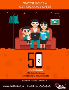 Movie madness continues... Get a Rs 50/- Mobile recharge's promo code absolutely free on booking 2 movie tickets on Fastticket Mobile App! Inviting all the movie buffs in the city. Know more: http://fastticket.in/other/special-offers/free-offer?offer=moviemobileoffer