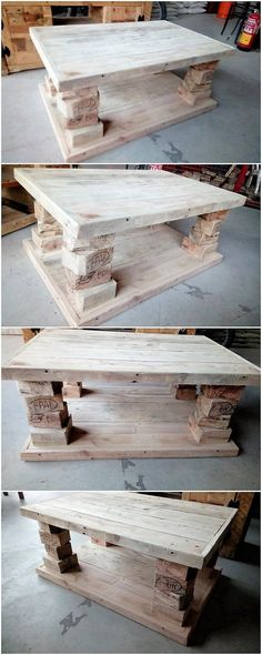 Have you ever thought about using the wood pallet for the creation of the pallet table idealistic design of work? If not, then hit your mind with this concept right now! You will view the much artistically designed table design framework that is so excellent designed out in platform work.