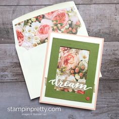 SHOP FOR STAMPIN' UP! ON-LINE! Create a simple bridal card using Petal Promenade Designer Series Paper. Blog Hop with more ideas. Daily tips!