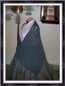 Dark Gray Civil War Victorian Handmade Shawl Wrap Cape   momentsintyme - Clothing on ArtFire
