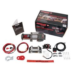 Extreme Max 5600.3072 Bear Claw ATV / UTV Deluxe Winch Package - 3100 lb. For product info go to:  https://www.caraccessoriesonlinemarket.com/extreme-max-5600-3072-bear-claw-atv-utv-deluxe-winch-package-3100-lb/