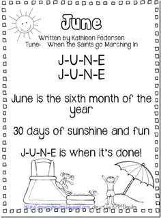 "June Calendar Song (tune: ""When the Saints Go Marching In"" )"